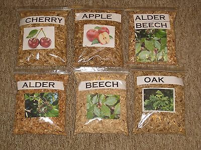 1l -10l QUALITY SMOKING WOOD CHIPS Alder,Apple,Beech,Cherry,Oak For Food Smoking