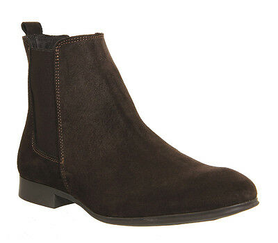 Mens Office Brown Suede Ankle Boots UK Size 9 *Ex Display