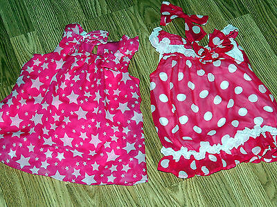 2 Pink/white Nylon Dresses 1 Polka Dots & 1 Stars  Patti Play Pal  Similar Dolls