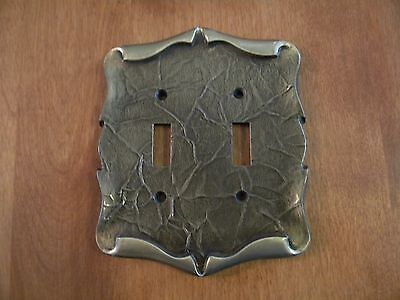 Vtg Amerock Carriage House Brass Double Switch Plate Cover
