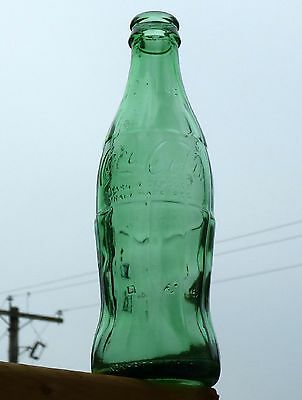 Vintage Canadian COCA-COLA hobble skirt GREEN glass soda bottle FREE SHIPPING!