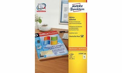 AVERY Zweckform Adress-Etiketten f. Postvertrieb, 85 x 40 mm