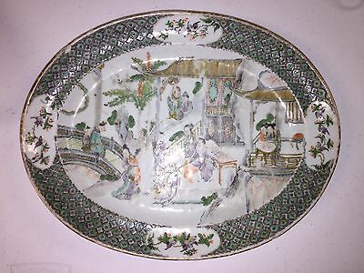 Antique Chinese Porcelain Platter Plate Very Old