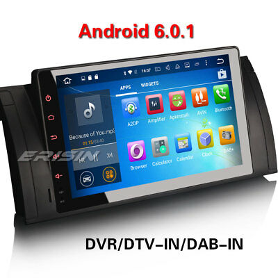 "Android 6.0 9""Car GPS Sat Nav SD DAB+Stereo Bluetooth 3G WiFi BMW E39 E53 X5 M5"