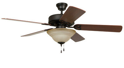 Craftmade BLD52ABZ5C1 Builder Deluxe Indoor Ceiling Fan Aged Bronze Brushed