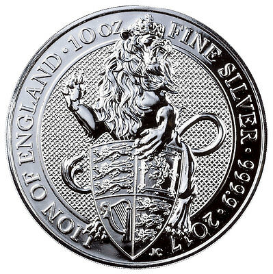 2017 Great Britain 10 oz Silver Queen's Beasts - Lion £10 Coin In Cap SKU47229