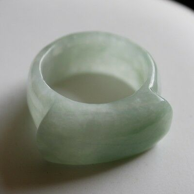 Size 11 * Certified Natural Grade (A) Untreated Light Green Jadeite JADE Ring