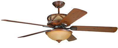 Craftmade DL60DMI5CRW Deer Lodge Indoor Ceiling Fan Dark Mahogany and Iron