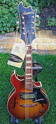 Made In Usa 1972 Harmony H35 Batwing Acoustic/electric Mandolin + Original Case
