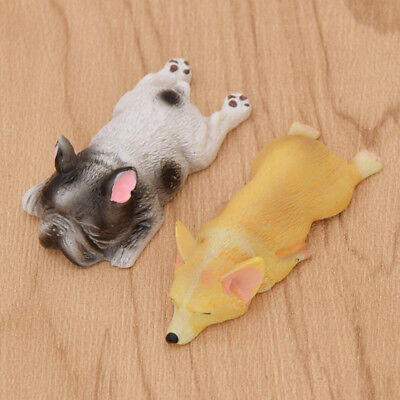 2 Pcs Funny Resion Dog Fridge Magnet Cute Lying Corgi Home Decor Fashion Gifts