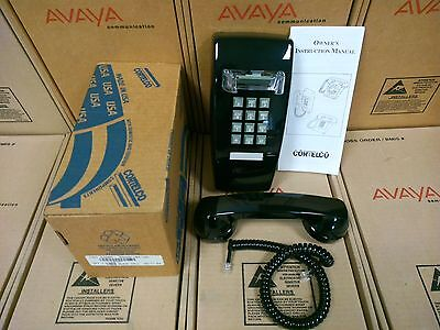New! in Box Vintage Cortelco 255400-Black Wall Phone 255400-VBA-20M