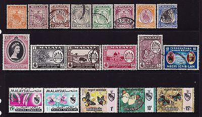 Federated Malay States Negri Sembilan Stamps all different
