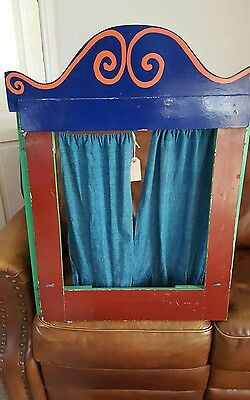 Vintage Sea Side Puppet Punch and Judy Stand