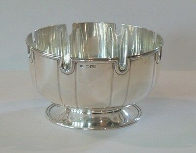 ENGLISH STERLING SILVER  PUNCH BOWL, GEORGE HOWSON, c. 1910, 700 GRAMS