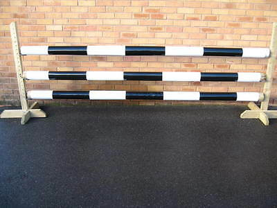 Equestrian Jump Pole Sleeves, 3 For £30, Strong, Blue/white/black/brown, Horse