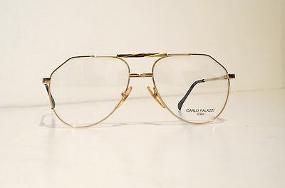 Carlo Palazzi Real Vintage Gold Aviator Eyeglasses Occhiali Made in Italy MINT