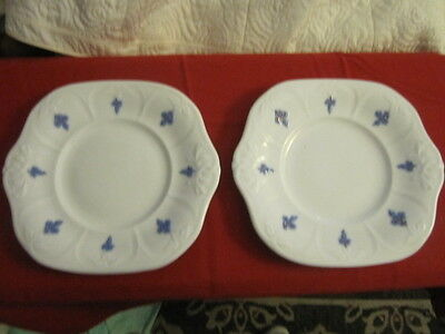 Two Antique Chelsea Ware Embossed Grape  Plates