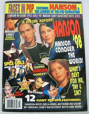Hanson March 1998 Spice Girls Mariah Carey No Doubt Jewel Pin Posters Magazine