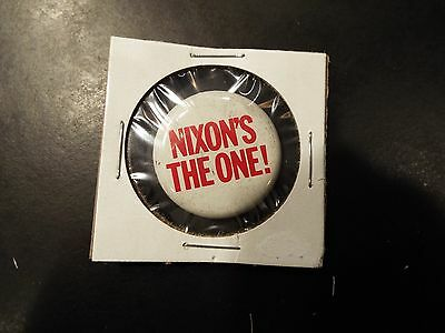"""Nixon's The One"" Richard Nixon Presidential Campaign Button 1960,68,72"