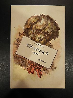 Kazine Washing Powder Victorian Trade Card
