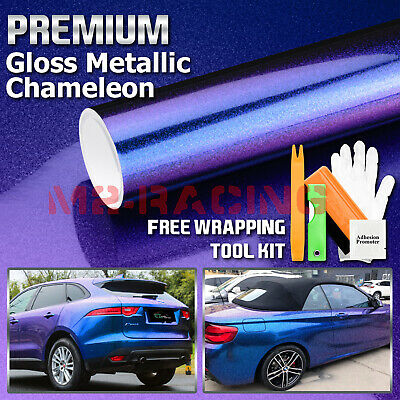 *Premium Gloss Metallic Chameleon Purple Blue Sticker Decal Car Vinyl Wrap Film