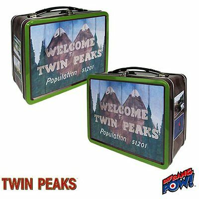 "Twin Peaks Tv Series ""welcome To Twin Peaks""  Full-Size Metal Lunchbox Tin Tote"