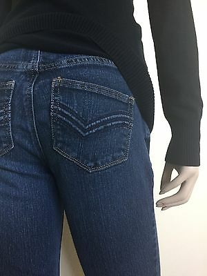 2-piece MATERNITY Panel Small Blue Jeans Denim Pants & Black Knit Sweater Outfit