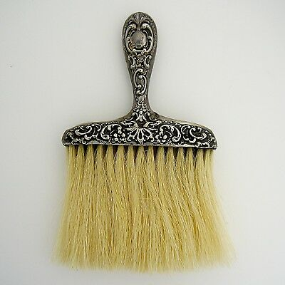 Sterling Silver Floral Scroll Repousse Bonnet Brush