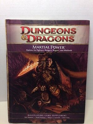 Dungeons & Dragons 4th Ed. Martial Power Hardcover Book 2008