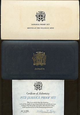 Jamaica 1973  Seven  Piece Proof Set Contains 1.2336 Oz Of Silver  Complete