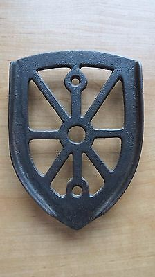 Antique Cast Iron Sad Iron Stand Spider Web
