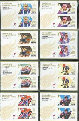 Great Britain Gold Medal Wnners 34 Different Sheets Of Two