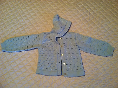Vintage baby sweater with hood