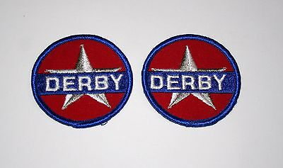 2 Rare Vintage Derby Oil & Gas Station Drilling Cloth Jacket Patch New NOS 1960s