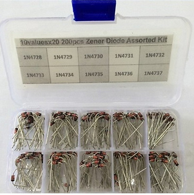 Ltvystore 200PCS 10Value (1N4728~1N4737) 1W Zener diode Assorted Kit Set with ..