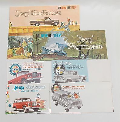 6 1962 1963 Kaiser JEEP Brochures Gladiator Pickup Truck Wagoneer Panel Delivery