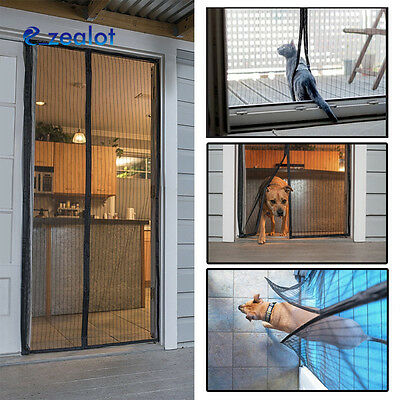 Flux Phenom Reinforced Magnetic Screen Door Durable Aviod Fly Insect Curtain