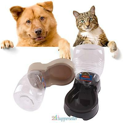 Automatic Pet Dog Cat Puppy Water Dispenser Food Dish Bowl Feeder