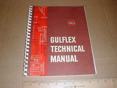 Gulf Oil original Nice Gulflex manual book illustrated w/photo cans products