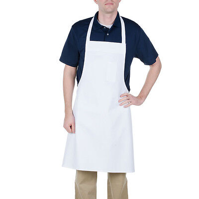 12 New White Bib Aprons Waiter Kitchen Cafe  Chef Catering Cooking Sale!!!