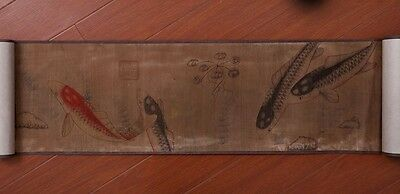 Exquisite Long China Vintage Handwork Landscape Scroll Painting Collection PP706