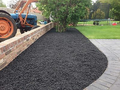 Jet Black Rubber Mulch For Soft Play (20 Bags Available )
