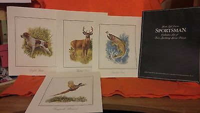 Sportsman Collector Set of Four Sporting Scene Prints