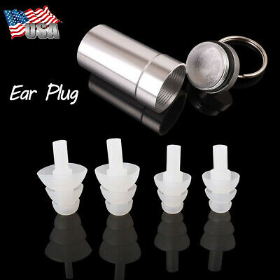 2 Pairs High Fidelity Concert Rave Musician DJ EarPlugs Ear Plug Protect Hearing