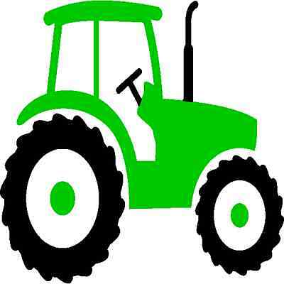 30 Custom Simple Green Tractor Art Personalized Address Labels