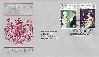 (01101) CLEARANCE Turks & Caicos Queen Silver Jubilee 7 February 1977