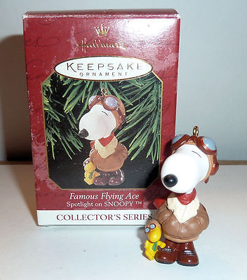 Hallmark Peanuts Snoopy Ornament  Famous Flying Ace Collectors Series