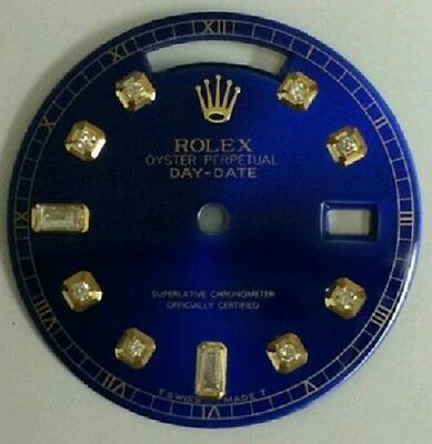 Brillant Zifferblatt Rolex Day Date Blau Diamant Zifferblatt