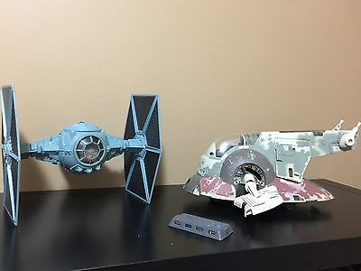 Star Wars Lot Tie Fighter And Slave 1 Loose
