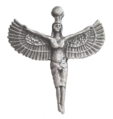 Isis Egyptian Goddess of Health Marriage & Wisdom Pewter Pin Badge - LP1374